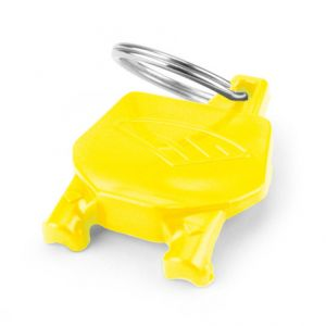 CYCRA 1CYC-0002-55 NUMBER PLATE KEY CHAIN YELLOW