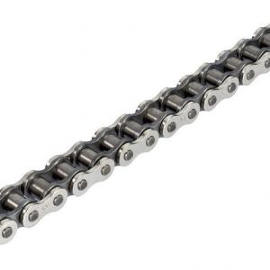 JT CHAINS JTC428HDRNB128SL 428 HDR CLIP LINK NON-SEAL REPLACEMENT DRIVE CHAIN / NATURAL/BLACK / STEEL