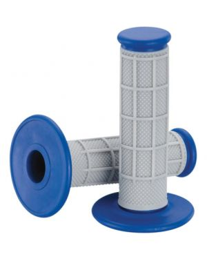 MOOSE RACING 1MG0715-EUM QUALIFIER™ HALF WAFFLE GRIPS GRAY/BLUE