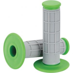 MOOSE RACING 1MG0715-EGM QUALIFIER™ HALF WAFFLE GRIPS GRAY/GREEN
