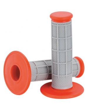 MOOSE RACING 1MG0715-ERM QUALIFIER™ HALF WAFFLE GRIPS GRAY/RED