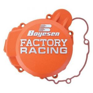 BOYESEN SC-41CO IGNITION COVER FACTORY RACING ALUMINUM REPLACEMENT POWDER-COATED ORANGE