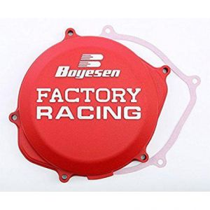BOYESEN CC-06AR CLUTCH COVER FACTORY RACING ALUMINUM REPLACEMENT RED