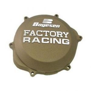 BOYESEN CC-44CM CLUTCH COVER FACTORY RACING ALUMINUM CUSTOM REPLACEMENT POWDER-COATED GRAY