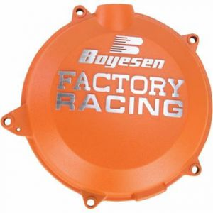 BOYESEN CC-44CO CLUTCH COVER FACTORY RACING ALUMINUM CUSTOM REPLACEMENT POWDER-COATED ORANGE