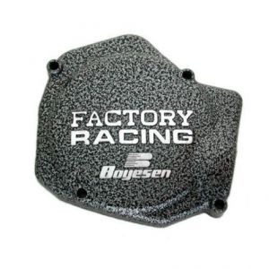 BOYESEN SC-01A IGNITION COVER FACTORY RACING ALUMINUM REPLACEMENT SILVER | BLACK