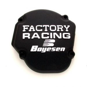 BOYESEN SC-02AB IGNITION COVER FACTORY RACING ALUMINUM REPLACEMENT BLACK