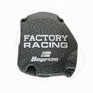 BOYESEN SC-21C IGNITION COVER FACTORY RACING ALUMINUM REPLACEMENT SILVER | BLACK