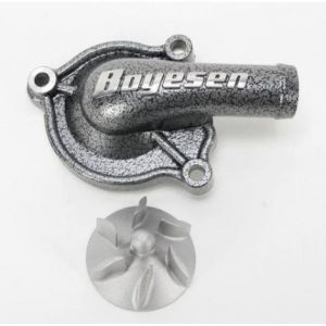 BOYESEN WPC-02 WATER PUMP COVER SUPERCOOLER ALUMINUM PERFORMANCE REPLACEMENT POWDER-COATED SILVER