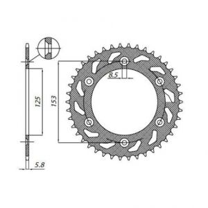 SUNSTAR SPROCKETS 1-3559-45 1-3559 REAR REPLACEMENT SPROCKET 45 TEETH 520 PITCH NATURAL STEEL