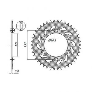 SUNSTAR SPROCKETS 1-3565-48 1-3565 REAR REPLACEMENT SPROCKET 48 TEETH 520 PITCH NATURAL STEEL