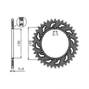 SUNSTAR SPROCKETS 1-3592-52 1-3592 REAR REPLACEMENT SPROCKET 52 TEETH 520 PITCH NATURAL STEEL