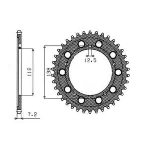 SUNSTAR SPROCKETS 1-4483-41 1-4483 REAR REPLACEMENT SPROCKET 41 TEETH 525 PITCH NATURAL STEEL