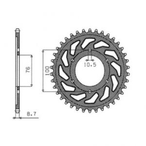SUNSTAR SPROCKETS 1-5226-45 1-5226 REAR REPLACEMENT SPROCKET 45 TEETH 530 PITCH NATURAL STEEL