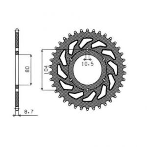 SUNSTAR SPROCKETS 1-6344-33 1-6344 REAR REPLACEMENT SPROCKET 33 TEETH 630 PITCH NATURAL STEEL