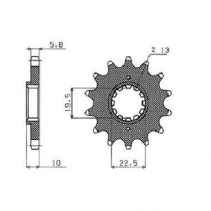 SUNSTAR SPROCKETS 32314 323 FRONT REPLACEMENT SPROCKET 14 TEETH 520 PITCH BLACK STEEL