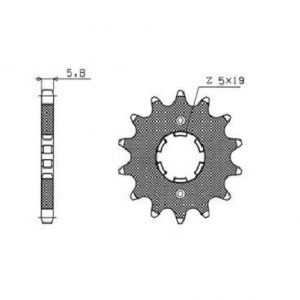 SUNSTAR SPROCKETS 33814 338 FRONT REPLACEMENT SPROCKET 14 TEETH 520 PITCH BLACK STEEL