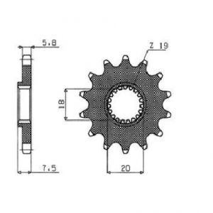 SUNSTAR SPROCKETS 34412 344 FRONT REPLACEMENT SPROCKET 12 TEETH 520 PITCH BLACK STEEL