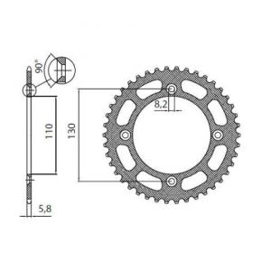 SUNSTAR SPROCKETS 5-1456-49BK 5-1456 REAR LIGHTWEIGHT SPROCKET 49 TEETH 420 PITCH BLACK ALUMINIUM