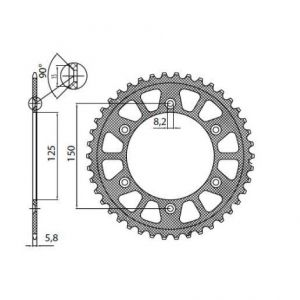 SUNSTAR SPROCKETS 5-3547-52BK 5-3547 REAR LIGHTWEIGHT SPROCKET 52 TEETH 520 PITCH BLACK ALUMINIUM