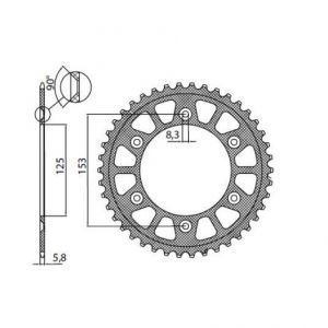 SUNSTAR SPROCKETS 5-3559-47BK 5-3559 REAR LIGHTWEIGHT SPROCKET 47 TEETH 520 PITCH BLACK ALUMINIUM
