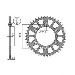 SUNSTAR SPROCKETS 5-3565-48 5-3565 REAR LIGHTWEIGHT SPROCKET 48 TEETH 520 PITCH NATURAL ALUMINIUM