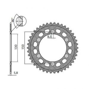 SUNSTAR SPROCKETS 5-3592-50BK 5-3592 REAR LIGHTWEIGHT SPROCKET 50 TEETH 520 PITCH BLACK ALUMINIUM