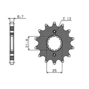 SUNSTAR SPROCKETS 51115 511 FRONT REPLACEMENT SPROCKET 15 TEETH 530 PITCH BLACK STEEL