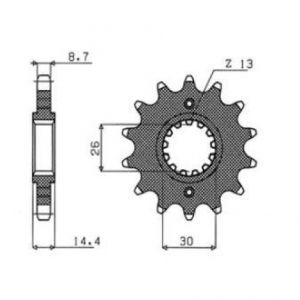 SUNSTAR SPROCKETS 51218 512 FRONT REPLACEMENT SPROCKET 17 TEETH 530 PITCH BLACK STEEL