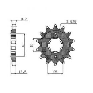 SUNSTAR SPROCKETS 51515 515 FRONT REPLACEMENT SPROCKET 15 TEETH 530 PITCH BLACK STEEL