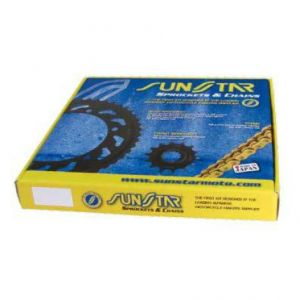 SUNSTAR SPROCKETS K530RDG093 RDG 114 RIVET LINK 530 X-RING PERFORMANCE REPLACEMENT CHAIN KIT 17 TEETH FRONT & 42 TEETH REAR NATURAL|NATURAL STEEL