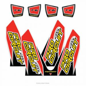 PRO CIRCUIT DC14T6-CRF EXHAUST STICKER KIT T-6 DUAL