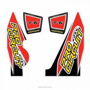 PRO CIRCUIT DC14T6-YZ250F EXHAUST STICKER KIT T-6