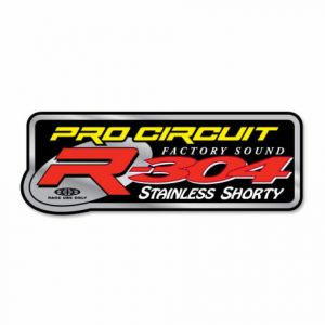PRO CIRCUIT DCR304 EXHAUST STICKER R-304 STAINLESS SHORTY