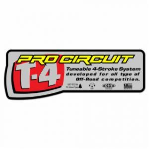 PRO CIRCUIT DCT4S EXHAUST STICKER T-4