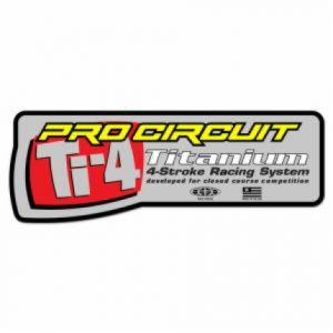 PRO CIRCUIT DCTI4S EXHAUST STICKER Ti-4