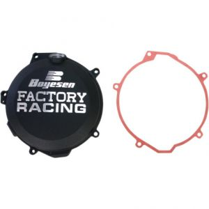 BOYESEN CC-44AB CLUTCH COVER FACTORY RACING ALUMINUM REPLACEMENT POWDER-COATED BLACK