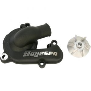 BOYESEN WPK-44B WATER PUMP COVER & IMPELLER KIT SUPERCOOLER ALUMINUM NAUTILUS POWDER-COATED BLACK