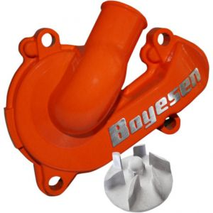 BOYESEN WPK-44O WATER PUMP COVER & IMPELLER KIT SUPERCOOLER ALUMINUM NAUTILUS POWDER-COATED ORANGE