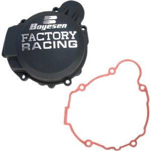 BOYESEN SC-41AB IGNITION COVER FACTORY RACING ALUMINUM REPLACEMENT POWDER-COATED BLACK