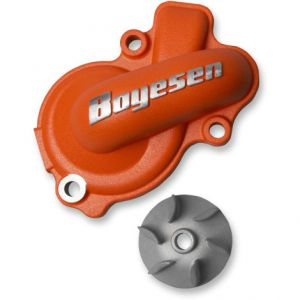 BOYESEN WPK-45O WATER PUMP COVER & IMPELLER KIT SUPERCOOLER ALUMINUM NAUTILUS POWDER-COATED ORANGE