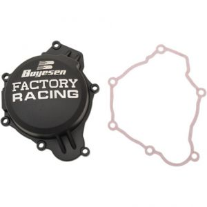 BOYESEN SC-41CB IGNITION COVER FACTORY RACING ALUMINUM REPLACEMENT POWDER-COATED BLACK