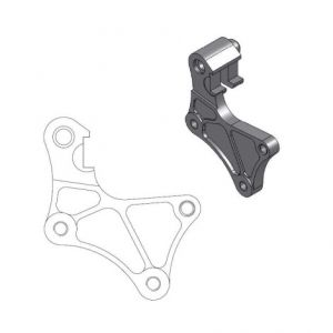 MOTO-MASTER 211016 RELOCATION BRACKET BRAKE CALIPER SM STREET 320MM