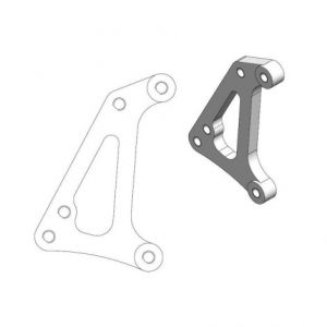 MOTO-MASTER 211081 RELOCATION BRACKET BRAKE CALIPER SM RACING 320MM
