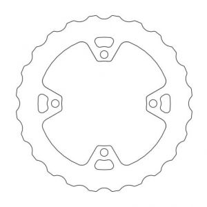 MOTO-MASTER 110643 BRAKE ROTOR FIXED NITRO CONTURED NATURAL