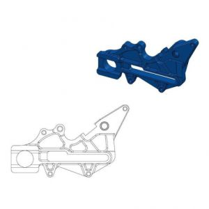 MOTO-MASTER 211062 RELOCATION BRACKET BRAKE CALIPER BLUE