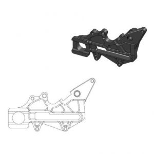 MOTO-MASTER 211064 RELOCATION BRACKET BRAKE CALIPER BLACK