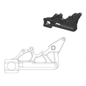 MOTO-MASTER 211085 RELOCATION BRACKET BRAKE CALIPER OVERSIZE