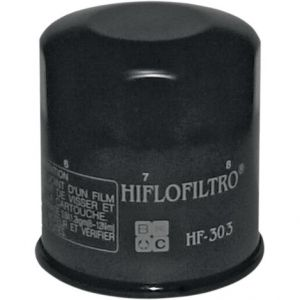 HIFLOFILTRO HF303 OIL FILTER SPIN-ON PAPER GLOSSY BLACK