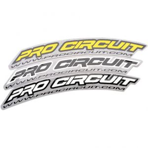 PRO CIRCUIT DC0010 FRONT FENDER DECAL WHITE